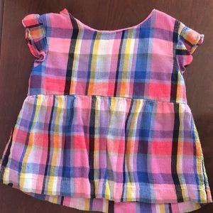 Girls Plaid Gap Shirt